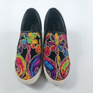 Wanted Picasso Wedges Black Size 8 Women's